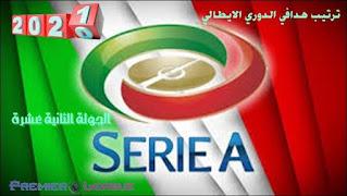 ترتيب هدافي الدوري الإيطالي - الجولة الثانية عشرة