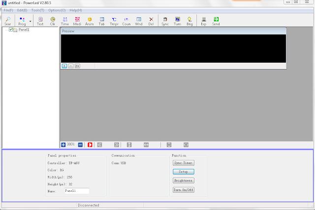 Gambar Menu / Tool Perangkat Running Text