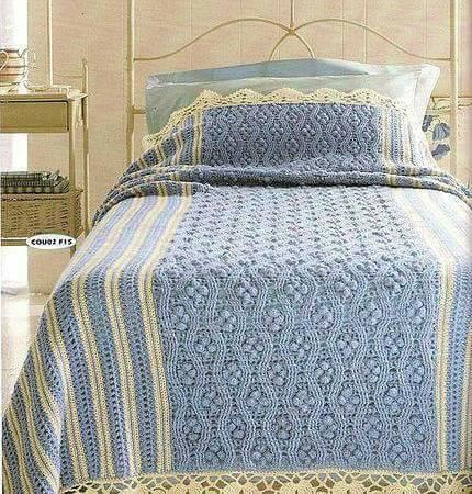 Patrón #1840: Hermosa Colcha a Crochet