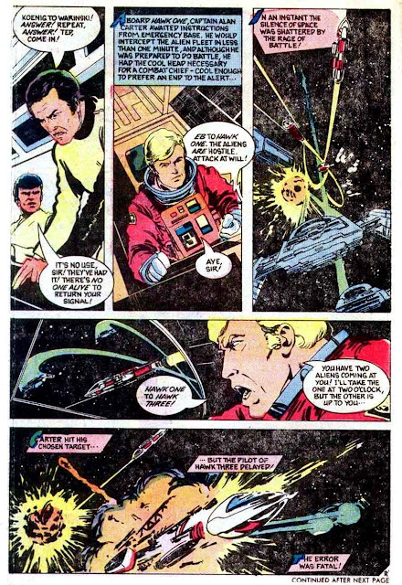 Space 1999 v1 #4 chalrton bronze age comic book page art by John Byrne