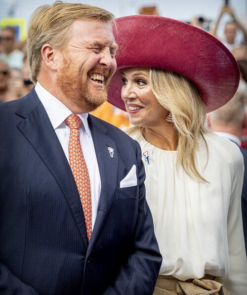 King Willem-Alexander and Queen Maxima, King Philippe and Queen Mathilde at the 75th anniversary of the liberation day event