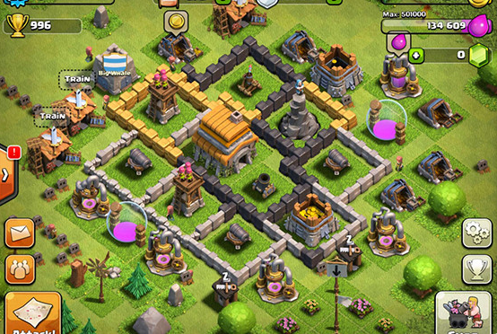 Game Android Terbaik RAM 2 GB - Clash of Clans