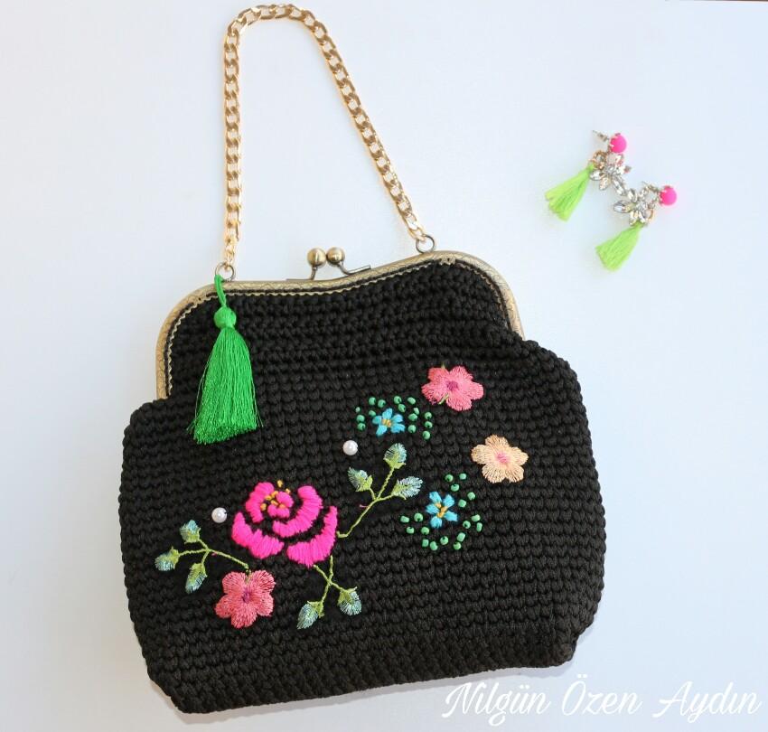 çanta süsleme-diy-embroidery-nakışla süsleme