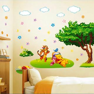 Gambar Wallpaper Dinding Winnie the Pooh Terbaru dan Lucu 200161