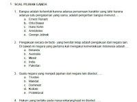 Soal USBN PKN SMA/MA KTSP