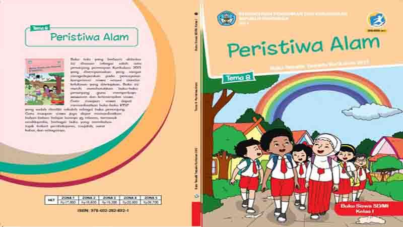 Buku Siswa Kelas 1 Tema 8 Peristiwa Alam Semester 2 K13 Revisi 2017 Rpp Guru Sd