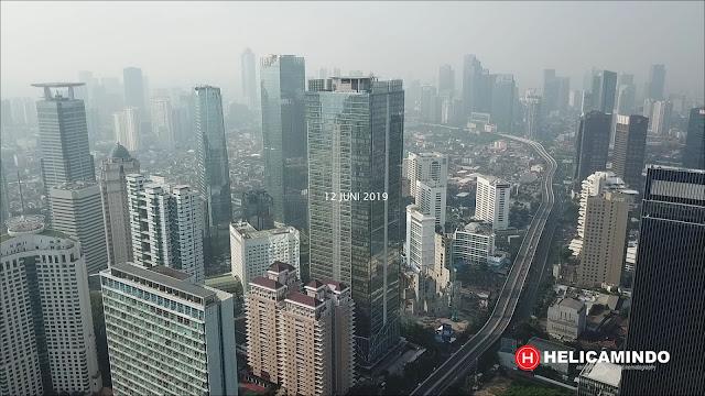 Foto Udara di Kawasan Sudirman Tahun 2019, Visibility hanya itungan dibawah 10 Km