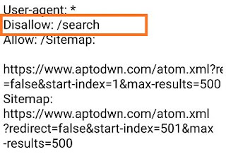 What is sitemap Disallow