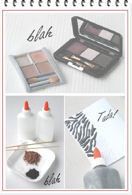 pegamento, colores, reciclar, cosméticos, manualidades