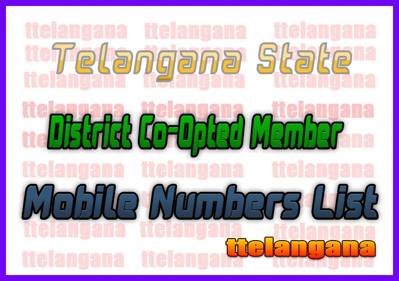 Khammam District Co-Opted Member Mobile Numbers List in Telangana State