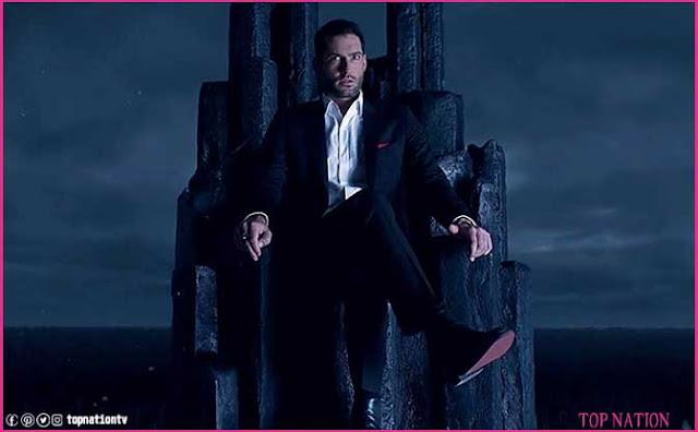 Lucifer on Hell Throne