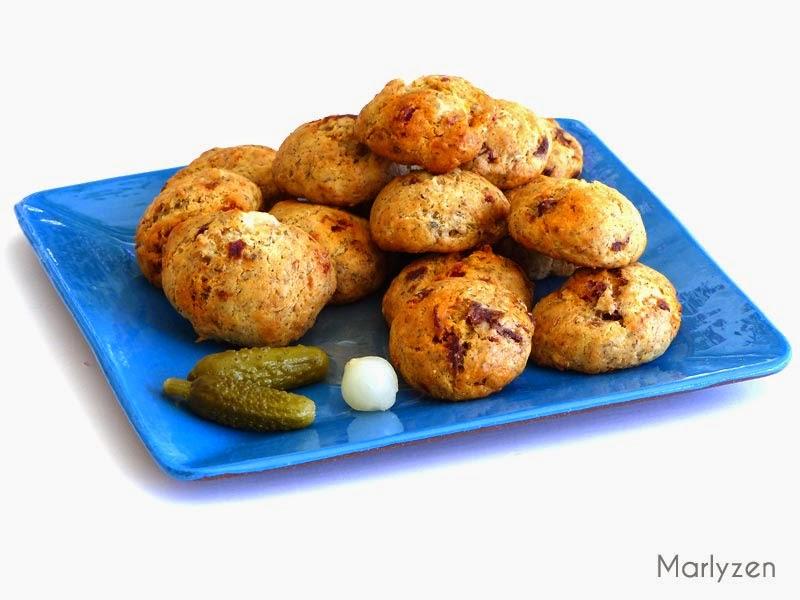 Cookies salés au goût du sud.