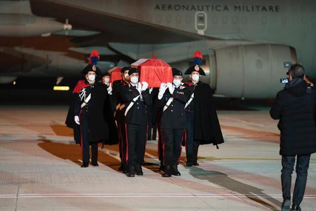 In Italia, i feretri dell'Ambasciatore Attanasio e del Carabiniere Iacovacci