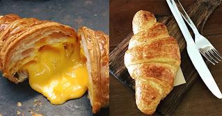Công thức làm bánh sừng bò nhân trứng muối sự kết hợp ẩm thực Á Âu