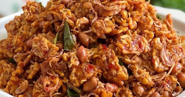Resep Kering Tempe Pedas. Cuma Pake Nasi Hangat Aja Udah Enak!