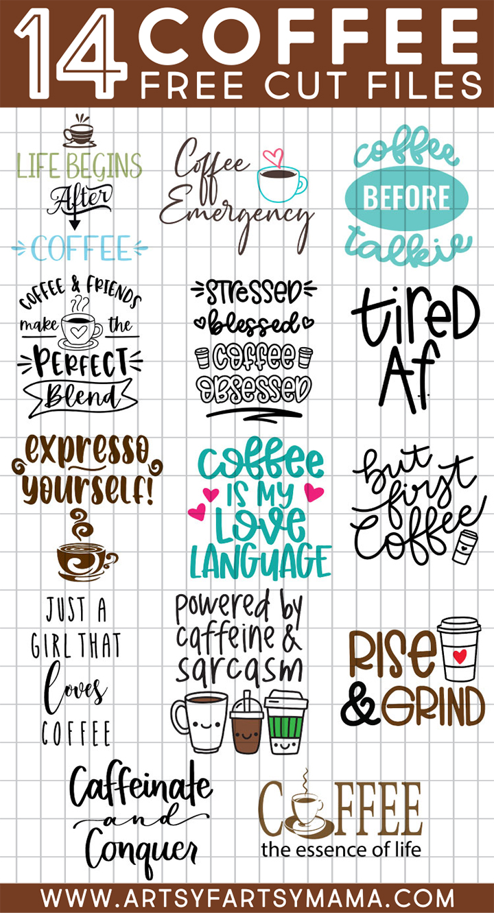 14 FREE Coffee-Themed SVG Cut Files