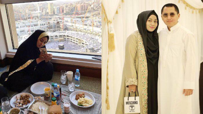 Anniesa memamerkan fotonya di Mekkah