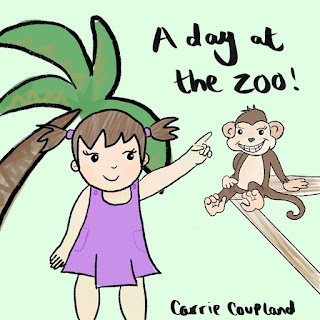 Childrens picture book, animal book, rhyming book, funny, zoo, cute, a day at the zoo, zoo picture book, zoo children's book, carrie coupland