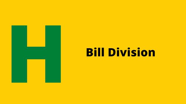 HackerRank Bill Division problem solution