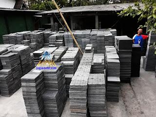 Batu alam candi polos rata mesin (RTA) dan alur, untuk tempel dinding rumah, dinding pagar dan dinding taman