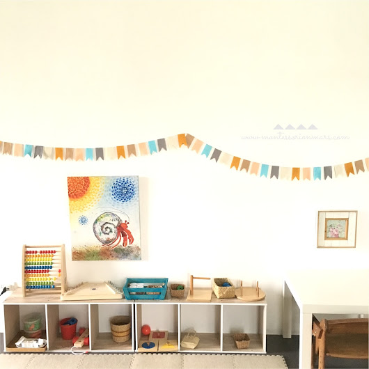 Recycling DIY Party Decors in Our Montessori Home