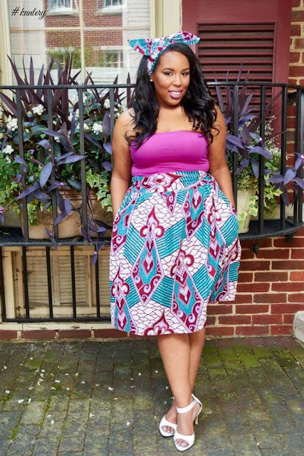 ankara skirt styles for plus size