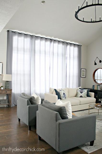 inexpensive drapes for big windows