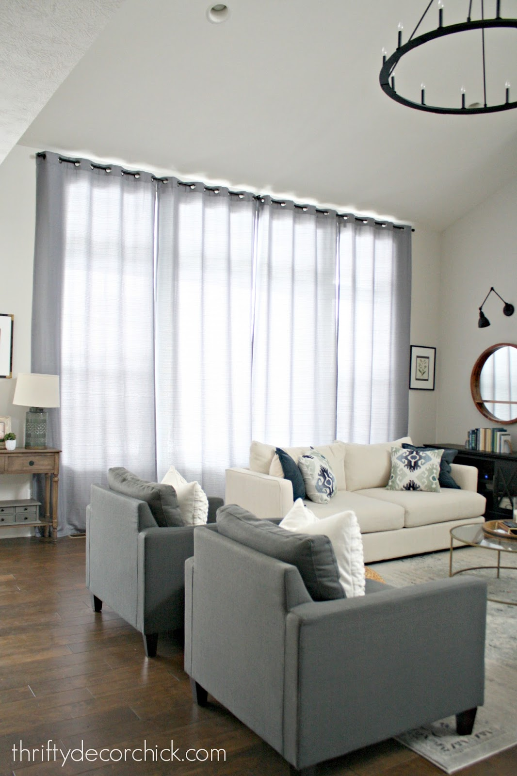 inexpensive drapes for big windows