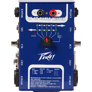 cable tester Peavey CT 10 live on stage