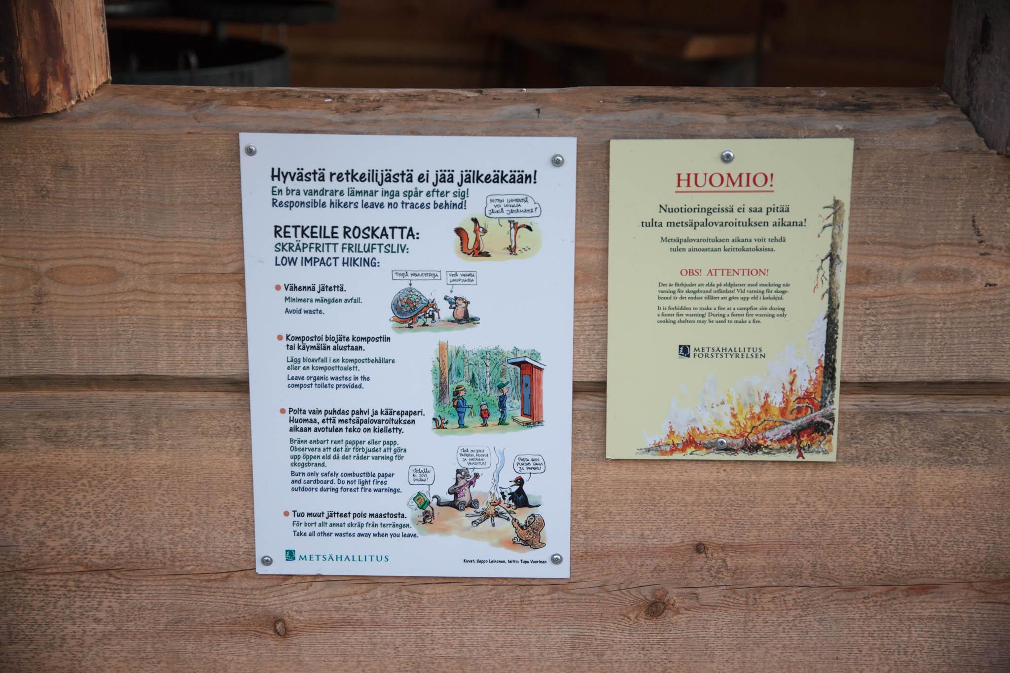 roskaton retkeily Metsähallitus Isojärven kansallispuisto