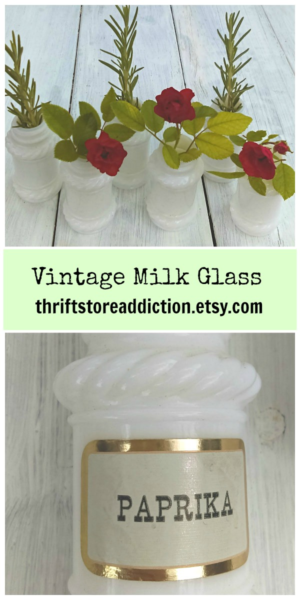 vintage milk glass at thriftstoreaddiction.etsy.com