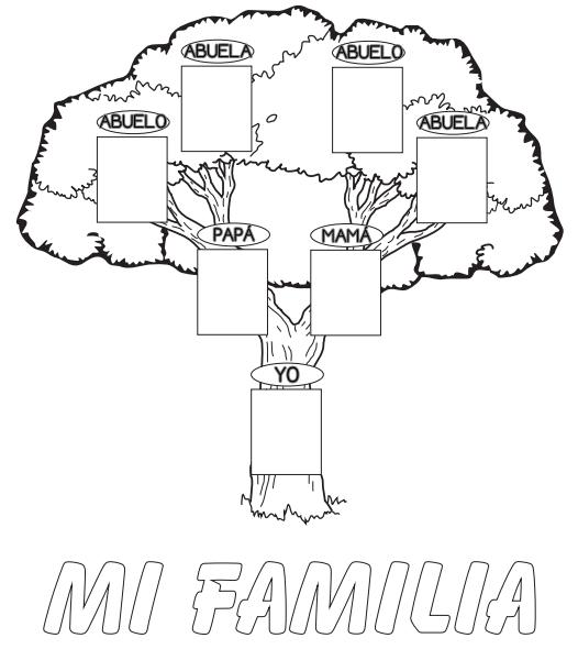 Arbol Genealogico Para Colocar Fotos Y Colorear Imagui