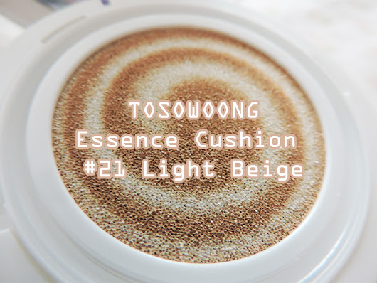 TOSOWOONG Essence Cushion #21 Light Beige Review!