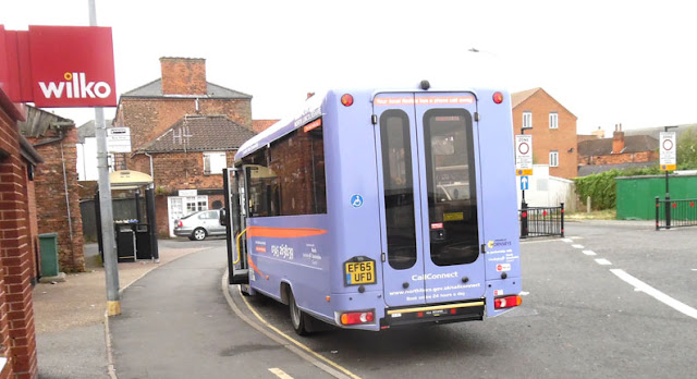 A Lincolnshire Call Connect bus in Cary Lane, Brigg - pictured by Nigel Fisher's Brigg Blog