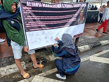 Aksi tandatangani Petisi Mosi ditak percaya terhadap Irjen pol Nana Sujana Menjadi Kapolda Metro Jaya