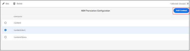 AEM Content Translation