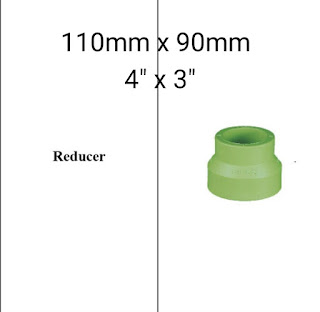 Jual reducer pipa ppr lesso 110mm × 90mm