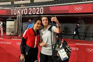 olympics tokyo 2020, atlet termuda olimpiade tokyo, olympics, hend zaza atlet termuda olimpiade tokyo 2020, foto hend zaza dan Liu Jia, atlet tenis meja, atlet ping pong, atlet tenis meja termuda yang tampil di olimpiade, umur hend zaza, umur Liu Jia, olimpiade musim panas 2020