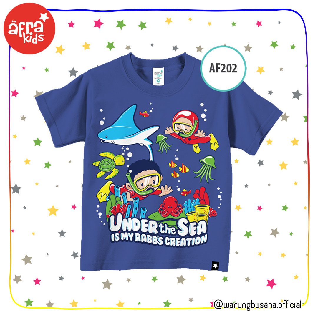 Afrakids Kaos Anak AF202 Under the sea is my Rabbs creation