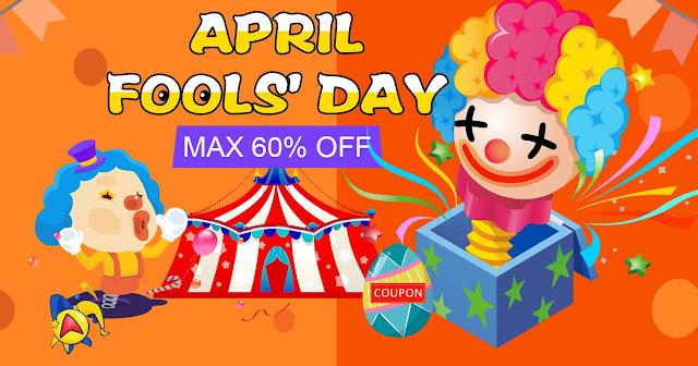 April Fools Day - Boa Promoção na Tomtop