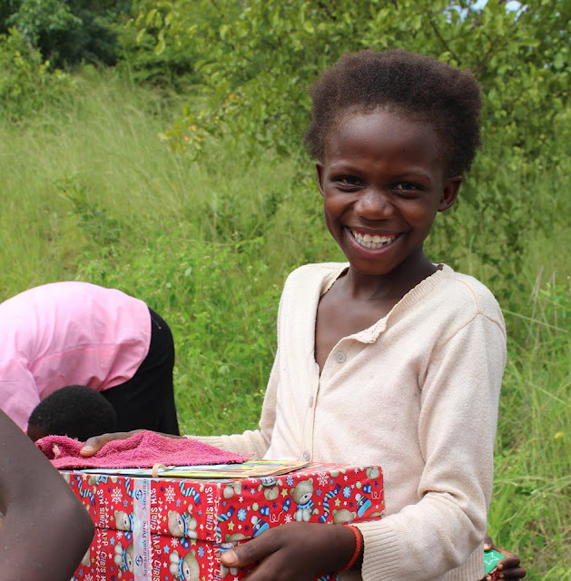 OCC shoeboxes bring smiles to the faces of the children.
