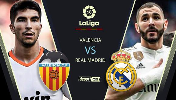 Real Madrid vs. Valencia EN VIVO a través de ESPN 2: minuto a minuto por LaLiga Santander
