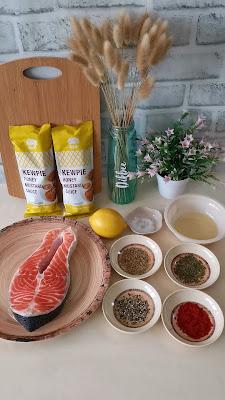 Resipi Honey Mustard Salmon Guna Air Fryer
