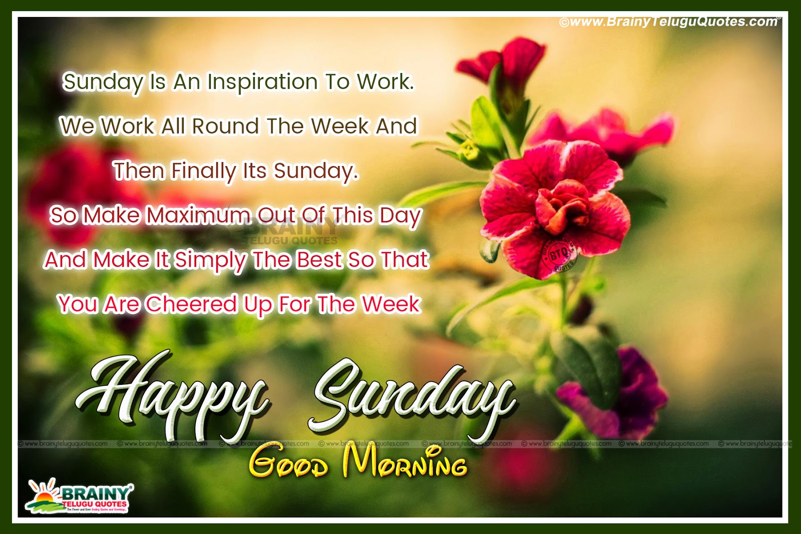 Good Morning Quotes Happy Sunday Friends Have A Happy Day