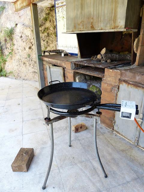 Fuego de gas especial para paella