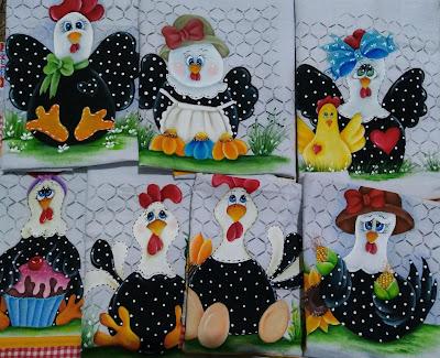 pintura tecido semaninha de galinhas