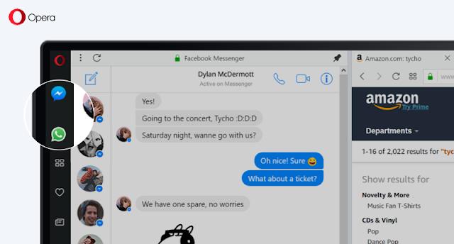 Opera Messenger Sidebar