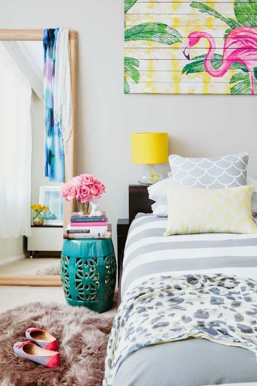 10 formas de veranizar tu casa con guiños tropicales; Dormitorio tropical