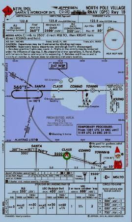 Santa   north pole airport chart also flies to lyncrest jeppesen village rh santafliestolyncrest spot