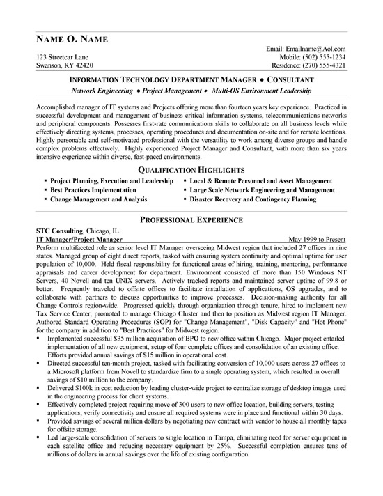 resume samples  technical sales consultant resume